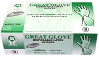 Great Glove™ Premium -  White Non-Medical (Industrial) Grade Latex Gloves - PRE20000 Series